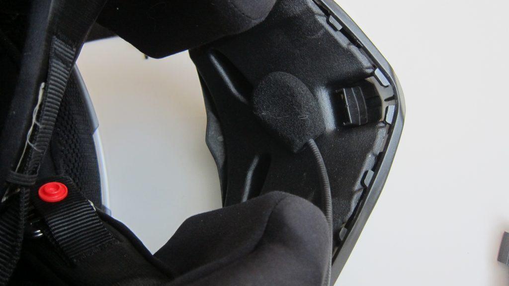Зажим G9 на шлеме интеграле, размещение микрофона