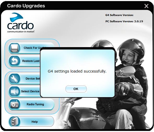 G4 settings loaded/ настройки загружены