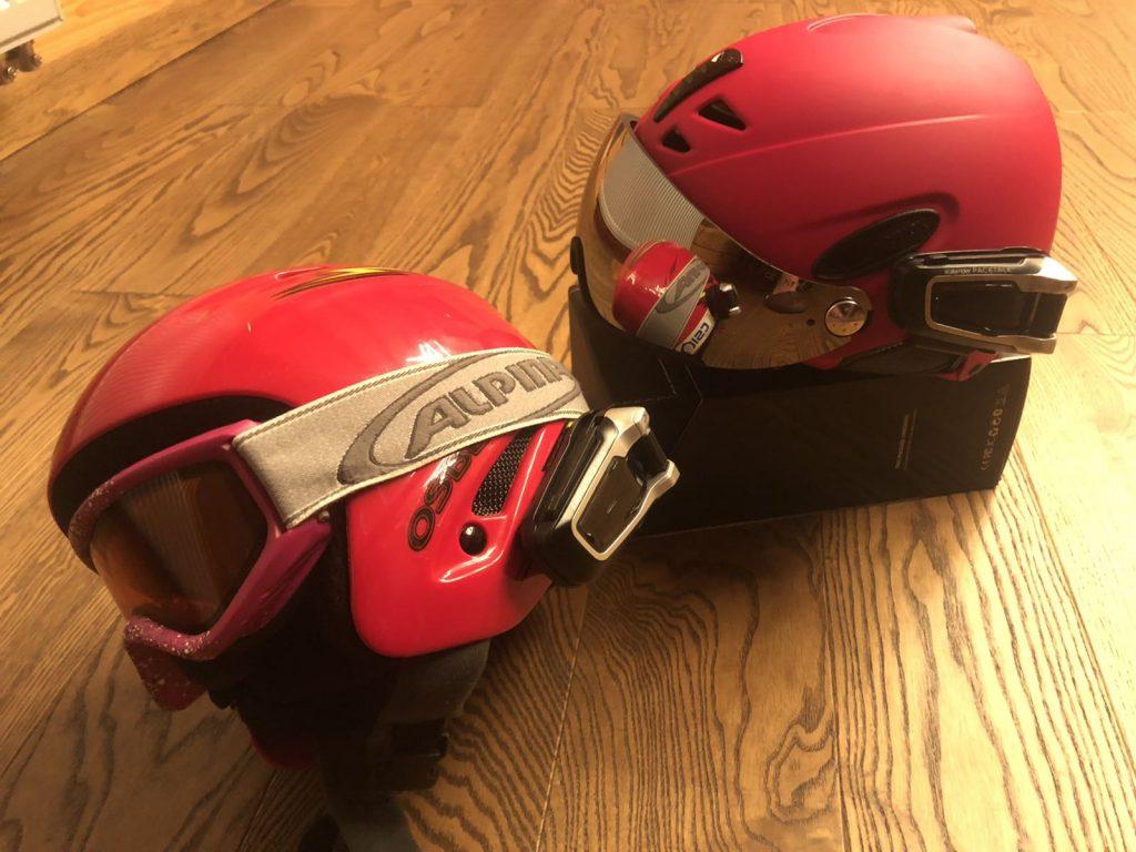 гарнитура на горнолыжном шлеме